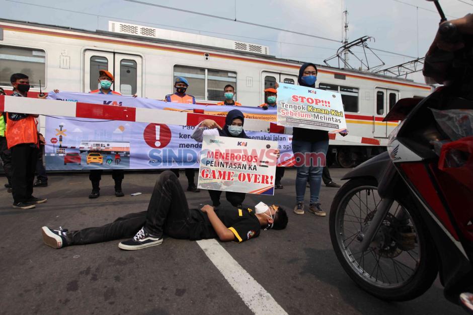 PT KAI Daop 1 Jakarta Sosialisasi Keselamatan di Perlintasan Sebidang Stasiun Kemayoran-1
