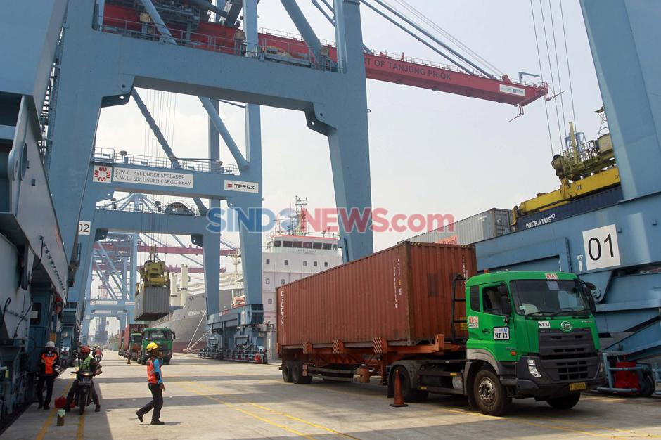 Aktivitas Bongkar Muat di Pelabuhan Tanjung Priok saat Pandemi-3