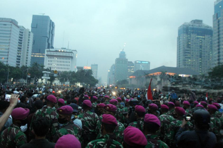 Mahasiswa dan Buruh di Jakarta Kembali Gelar Aksi Tolak Omnibus Law-2