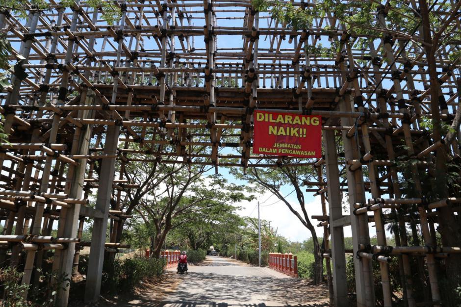 Jembatan Bambu Senilai Rp1,2 Miliar di Ekowisata Mangrove Wonorejo Mangkrak-5