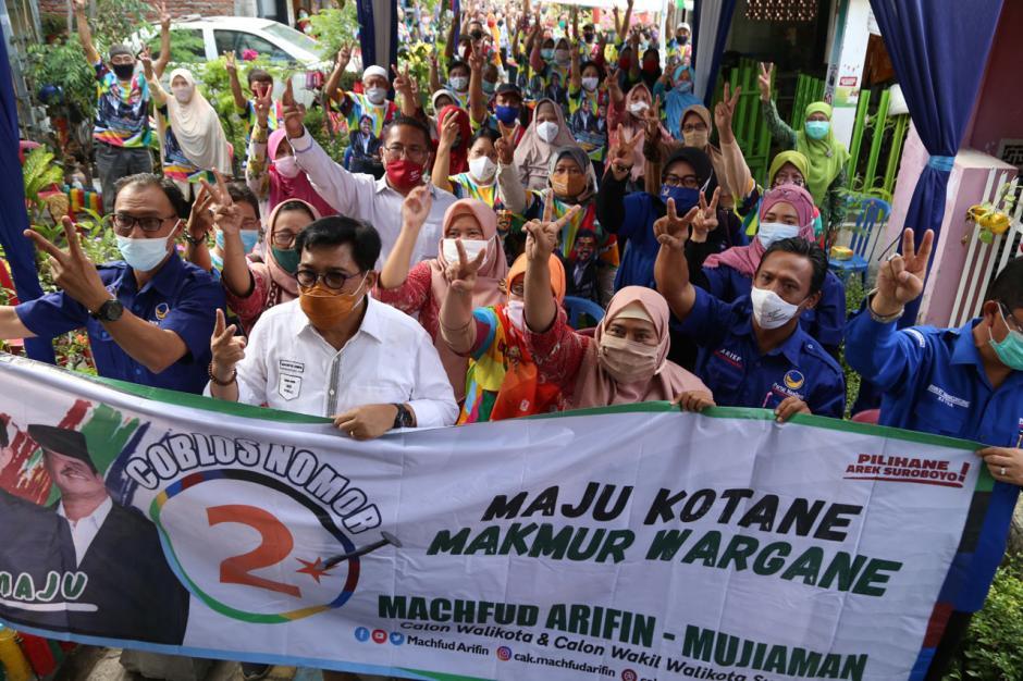 Calon Wali Kota Surabaya Machfud Arifin Janji Wujudkan Program Rp150 Juta Per RT-0