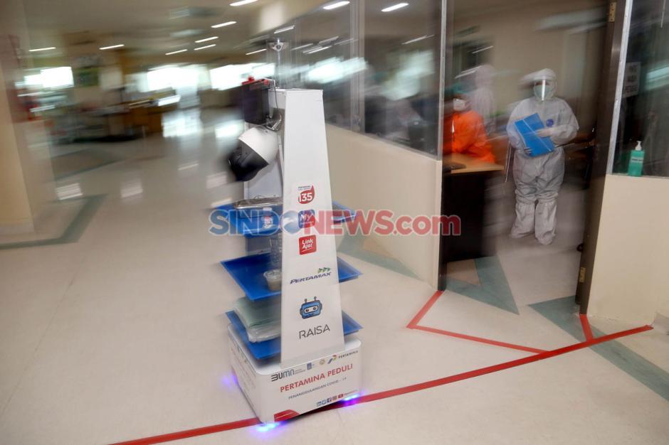 Robot Raisa Bantu Tenaga Medis Covid-19 di RS Husada Utama Surabaya-5