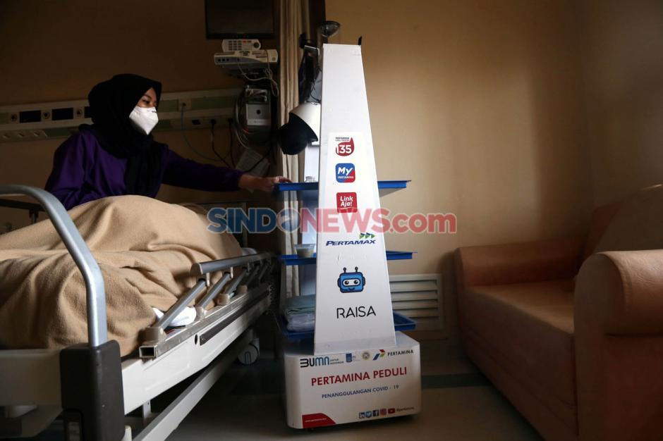 Robot Raisa Bantu Tenaga Medis Covid-19 di RS Husada Utama Surabaya-12