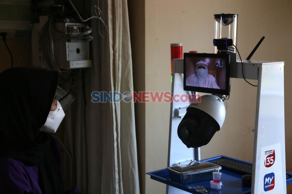 Robot Raisa Bantu Tenaga Medis Covid-19 di RS Husada Utama Surabaya-1