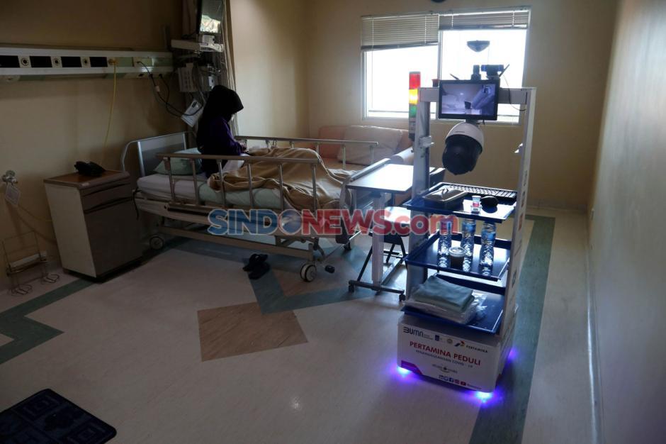Robot Raisa Bantu Tenaga Medis Covid-19 di RS Husada Utama Surabaya-3