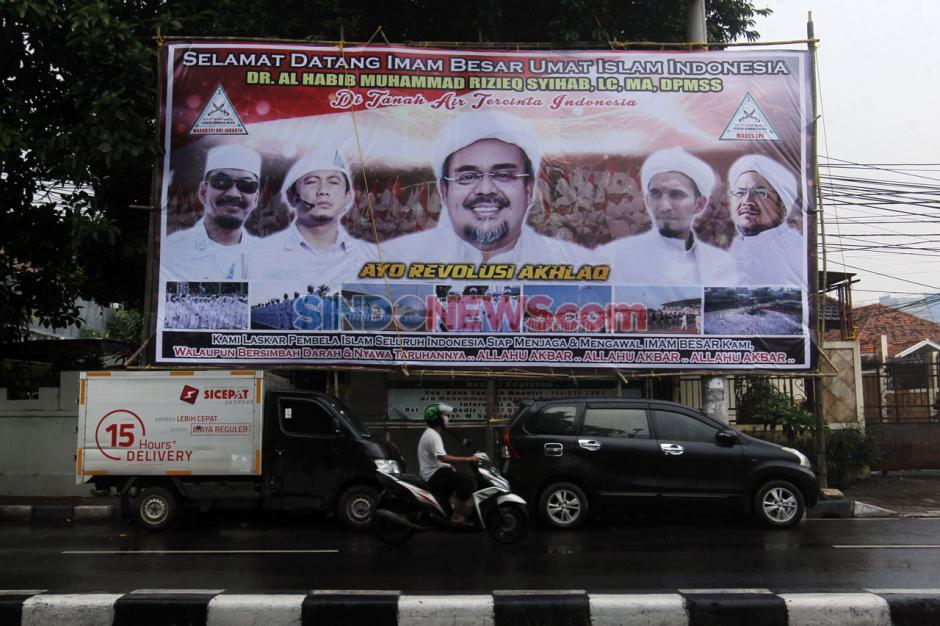 Baliho Raksasa Sambut Agenda Kepulangan Habib Rizieq-1