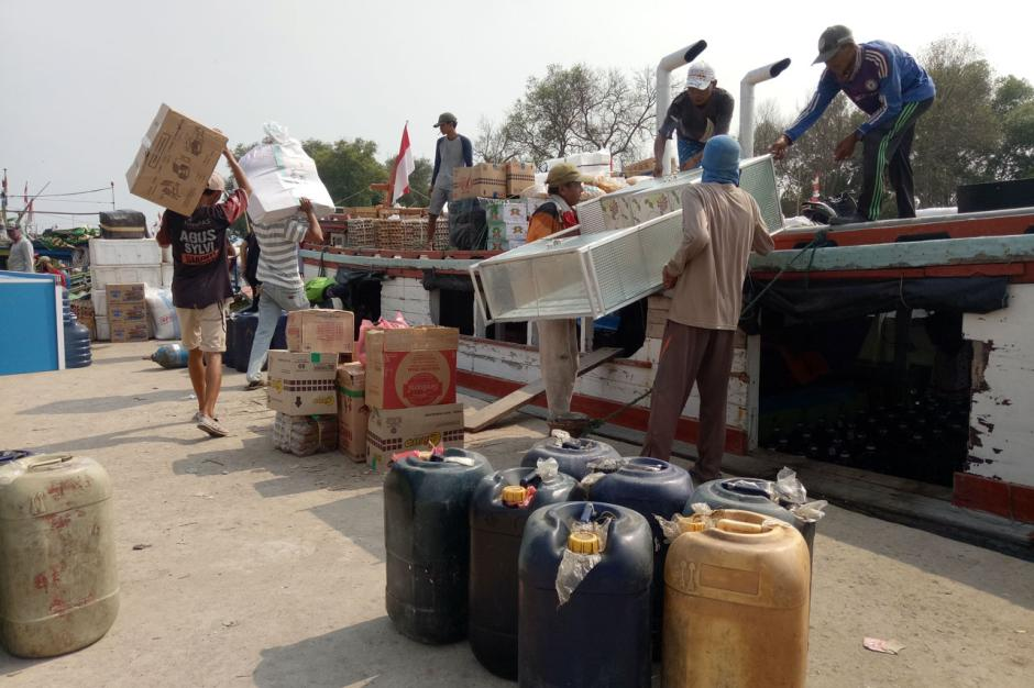 Terapkan Protokol Kesehatan, Pelabuhan Penyeberangan Cituis Tangerang Ramai Aktivitas-0