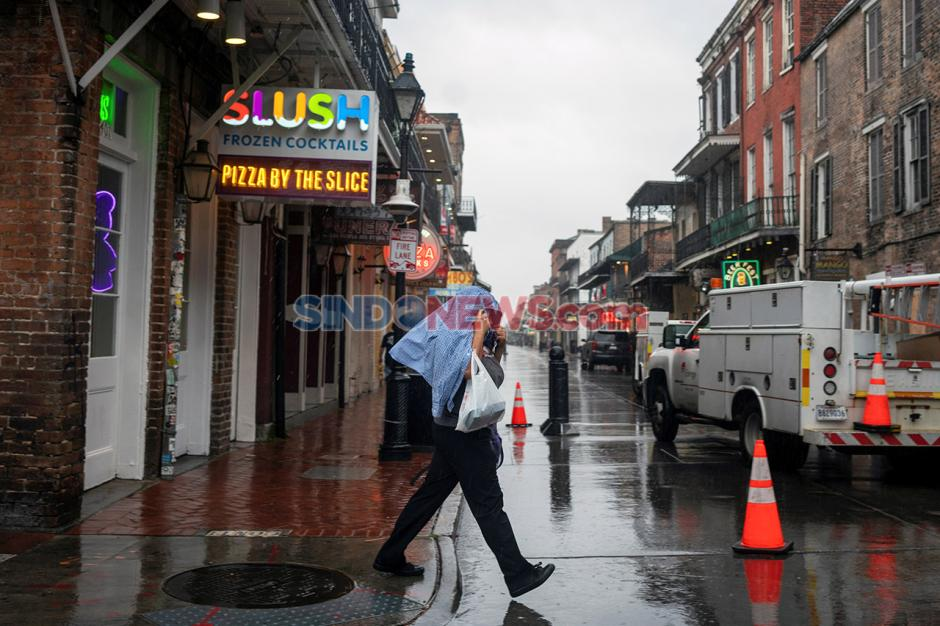 Antisipasi Datangnya Badai Zeta di New Orleans, Louisiana, AS-2