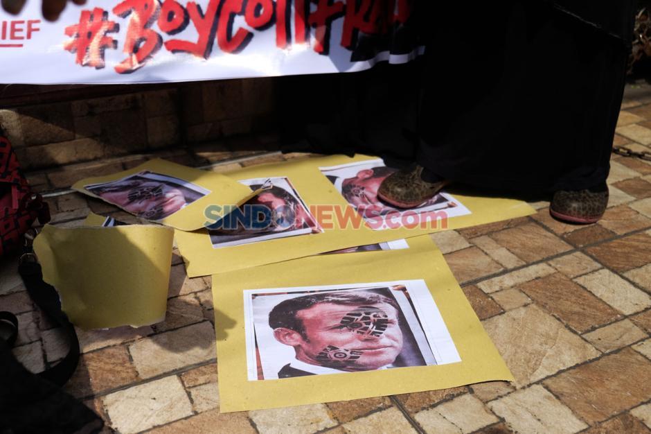 Aksi Boikot Produk Prancis di Medan-0