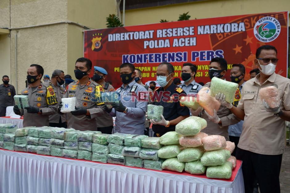 Polda Aceh dan Bea Cukai Gagalkan Penyelundupan Sabu Jaringan Internasional-2