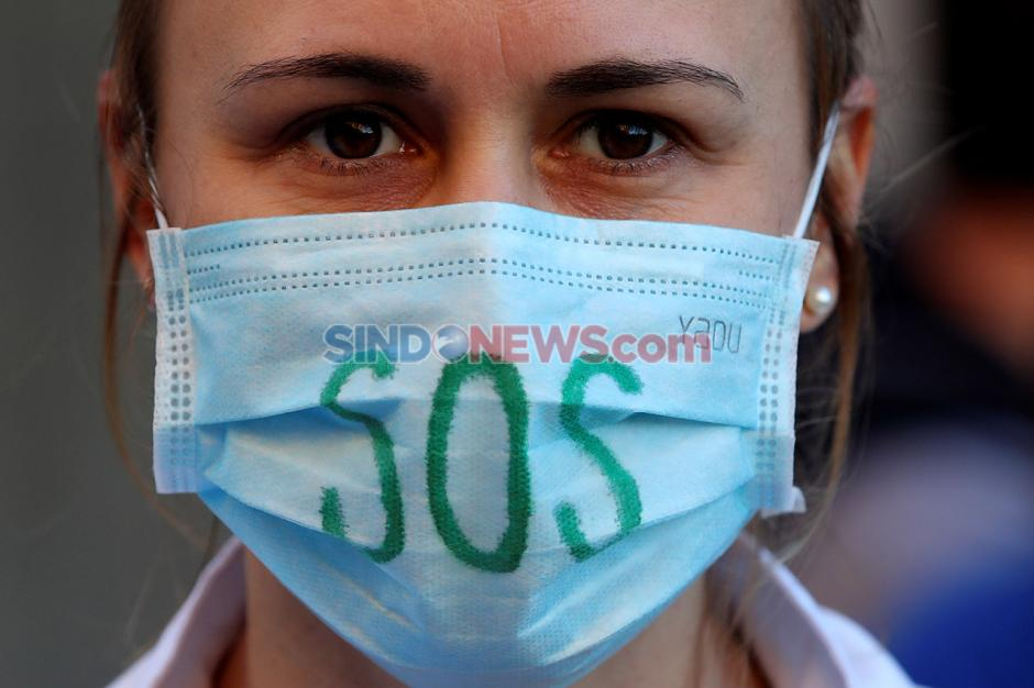 Pasien Covid-19 Terus Meningkat, Tenaga Medis Belgia Protes Pemerintah-0