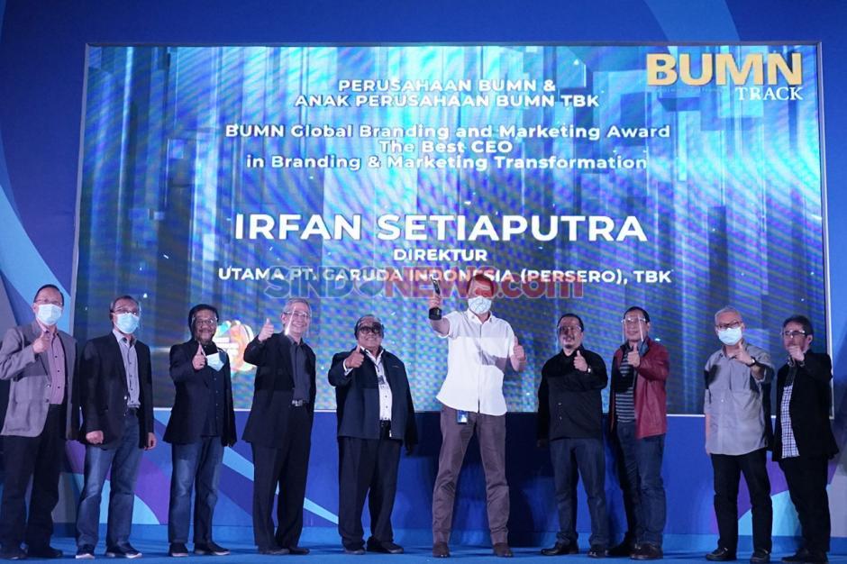 Dirut Garuda Indonesia Raih The Best CEO BUMN Award 2020-1