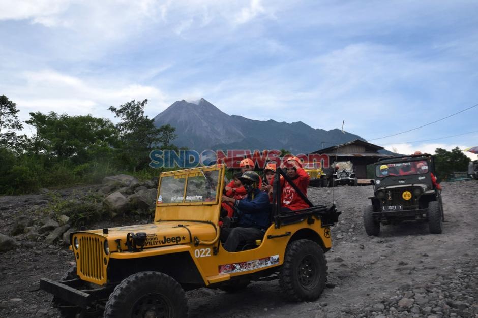 Menikmati Objek Wisata Kaliadem di Tengah Merapi Berstatus Siaga-8