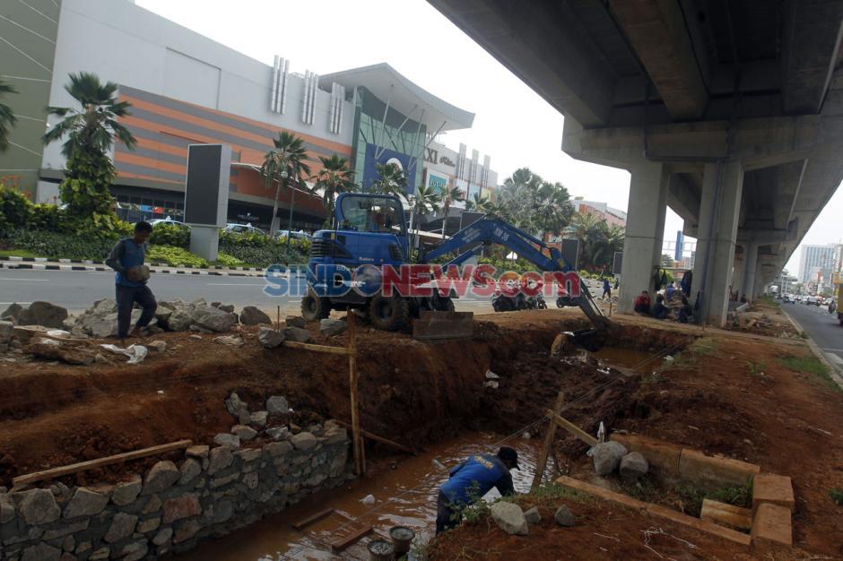 Kawasan Rawan Banjir, Jalan Boulevard Raya Kelapa Gading Dibangun Kolakan-5