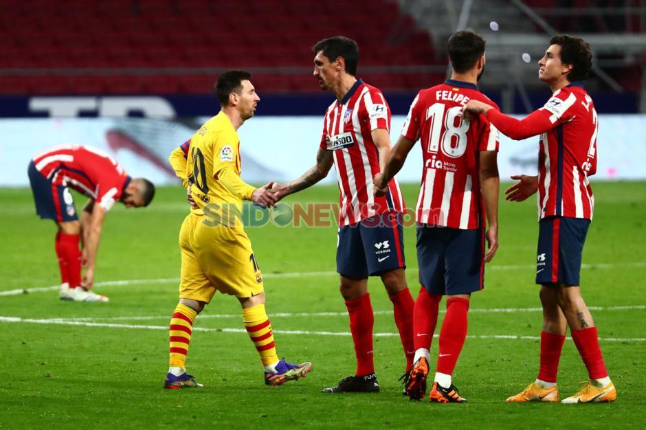 Menang Tipis, Atletico Madrid Jinakkan Barcelona 1-0-2