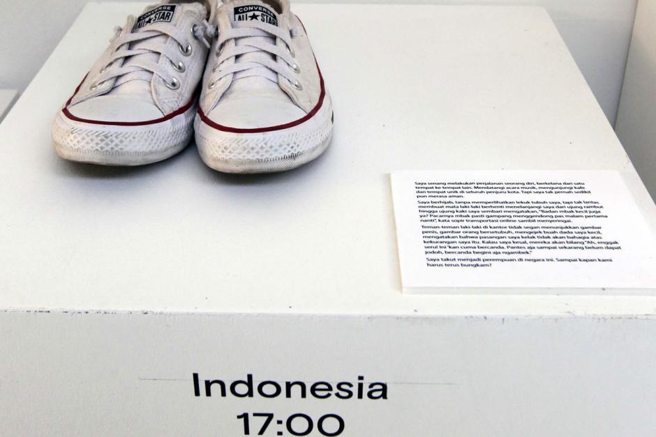Berbagi Cerita Penyintas Kekerasan Seksual dalam Shoes Art Installation-3