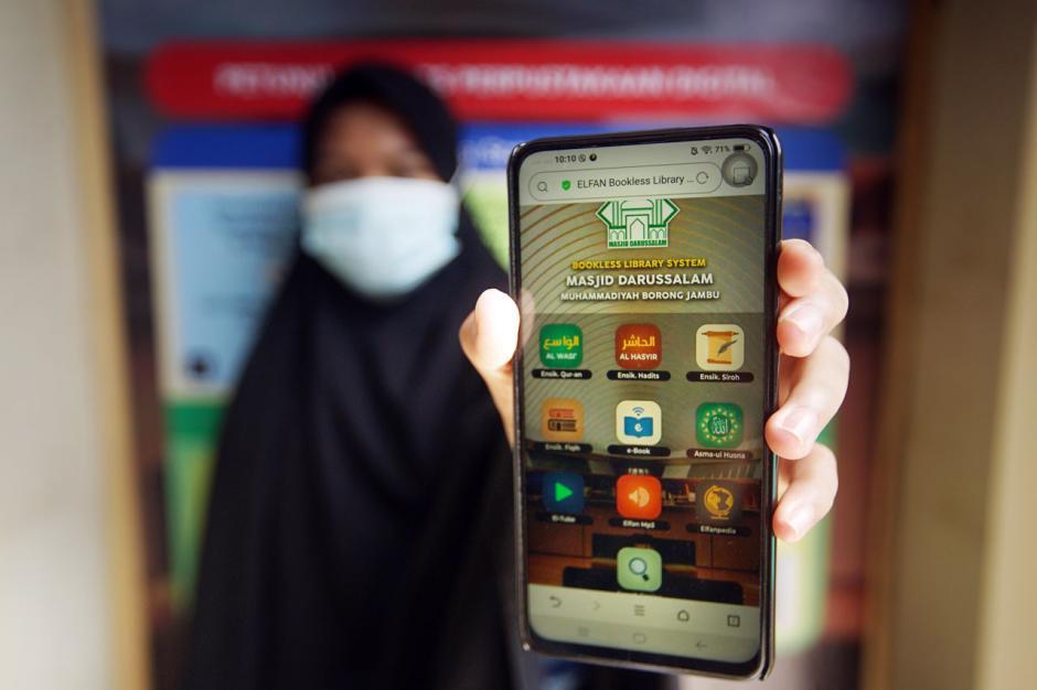 Menyambangi Perpustakaan Digital di Masjid Darussalam Muhammadiyah Makassar-5