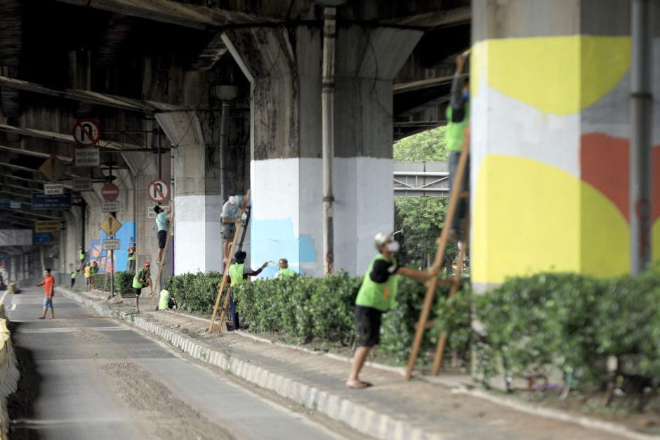 100 Tiang Jalan Tol di DKI Akan Dihiasi dengan Mural Covid-19-4