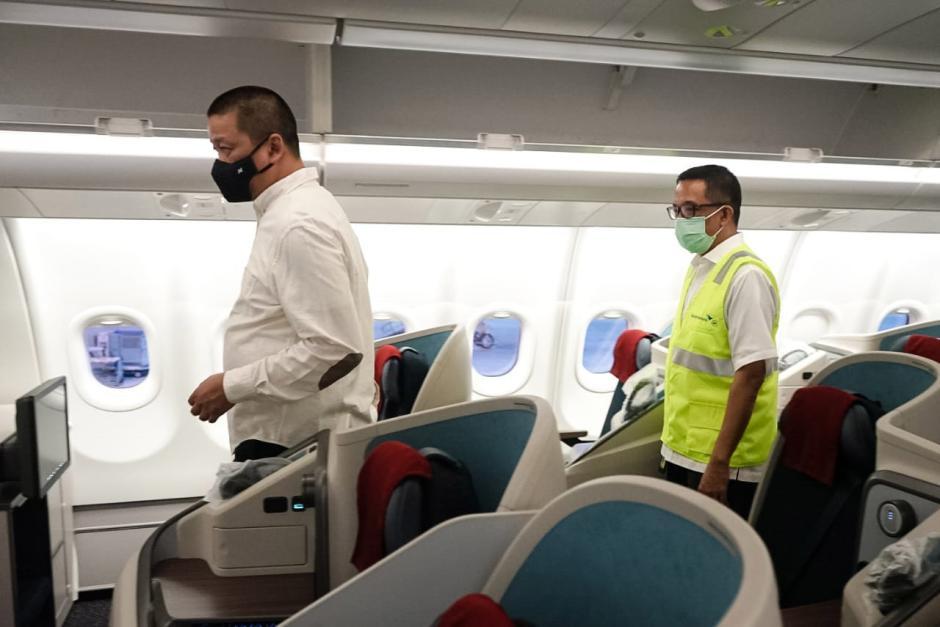 Dirut Garuda Irfan Setiaputra Tinjau Layanan Operasional Penerbangan di Bandara Soekarno-Hatta-2