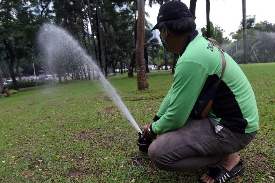 Perawatan Rutin Taman Kota di Kawasan Semanggi-0