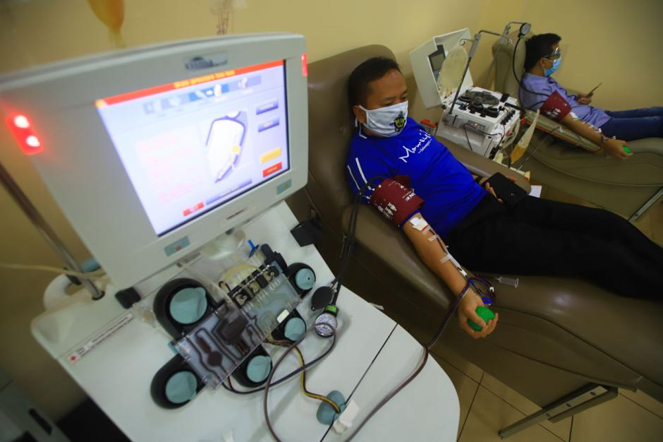 Donor Darah Plasma Konvalesen Penyintas Covid-19 di PMI DKI Jakarta-0