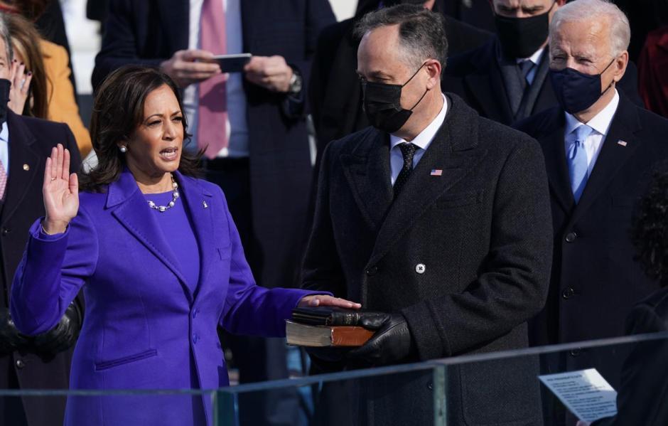 Momen Pengambilan Sumpah Biden dan Kamala saat Dilantik Sebagai Presiden dan Wapres AS-2