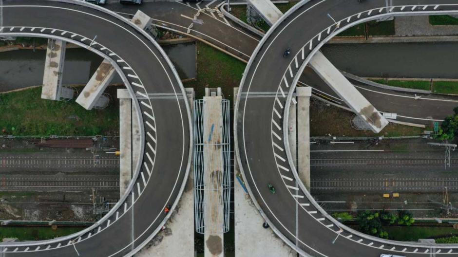 Begini Penampakan Jalan Layang Tapal Kuda yang Bernilai Rp143 Miliar-5