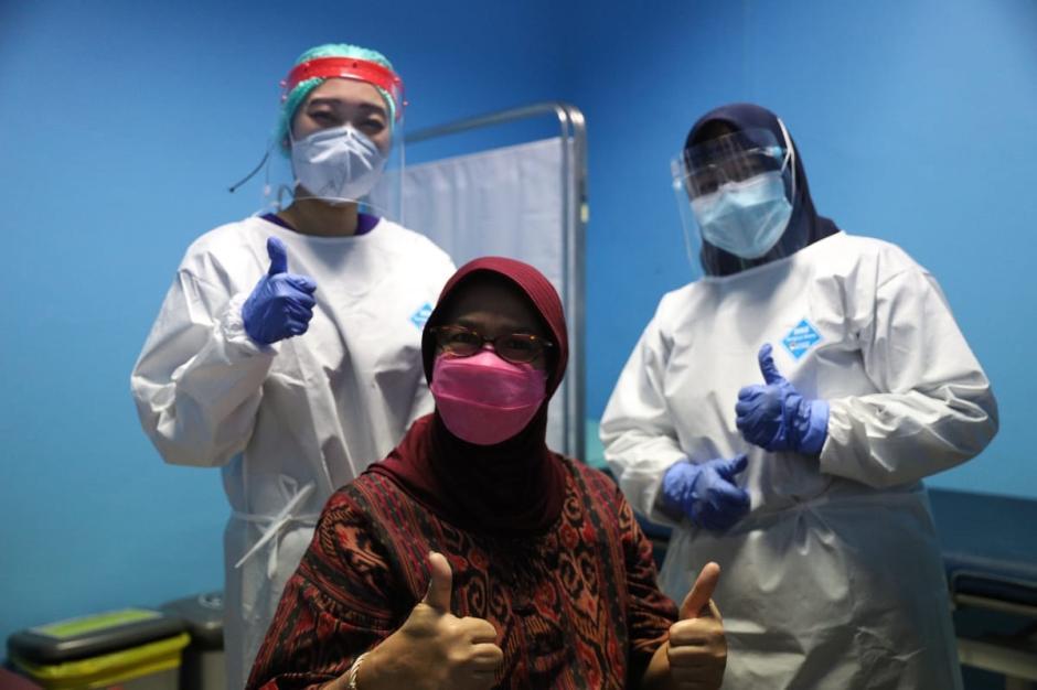 Rusminah, Lansia Pertama Penerima Vaksin Covid-19 di Jakarta Utara-0