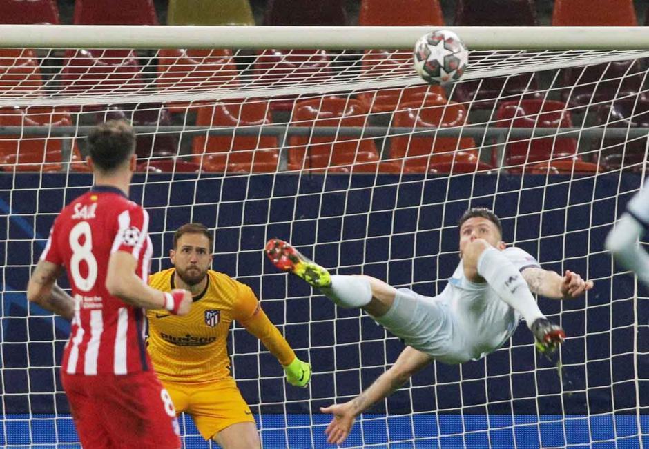 Gol Salto Olivier Giroud Bungkam Atletico Madrid 1-0-0