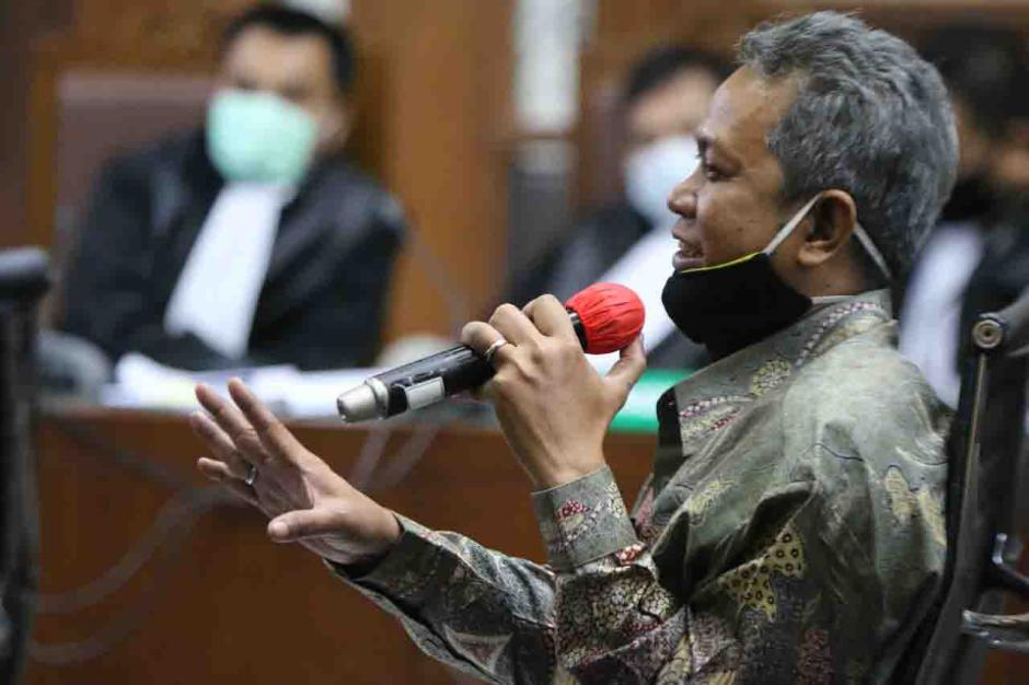 Kuasa Hukum Hadirkan Saksi Ahli Ridwan pada Sidang Lanjutan Eks Sekretaris MA Nurhadi dan Menantu-0