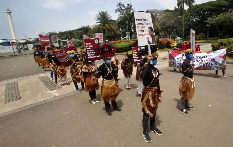 Mahasiswa dan Pemuda Gelar Parade Budaya Dukung Otsus Papua-3
