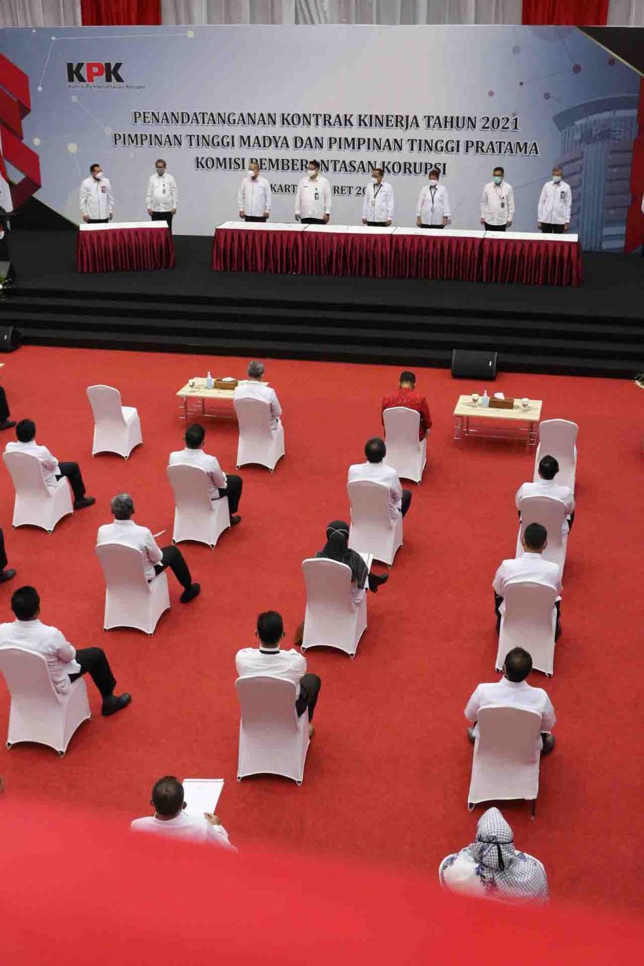 KPK Gelar Penandatanganan Kontrak Kinerja Pejabat Struktural-1