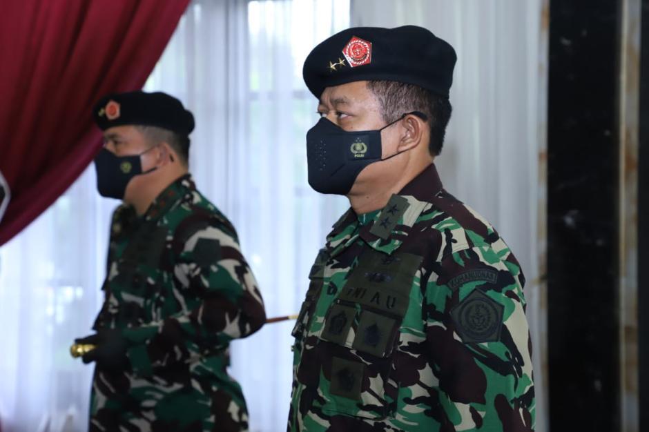 Panglima TNI Lantik Marsda TNI Novyan Samyoga Sebagai Pangkohanudnas-2