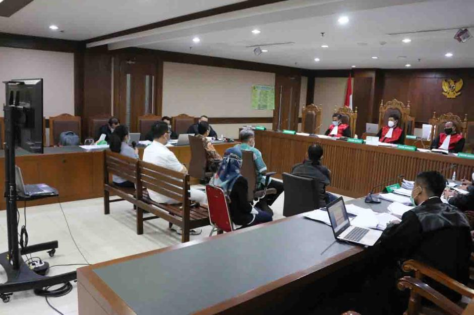 Sekjen dan Pejabat Kemensos Bersaksi di Sidang Suap Bansos Covid-19-3