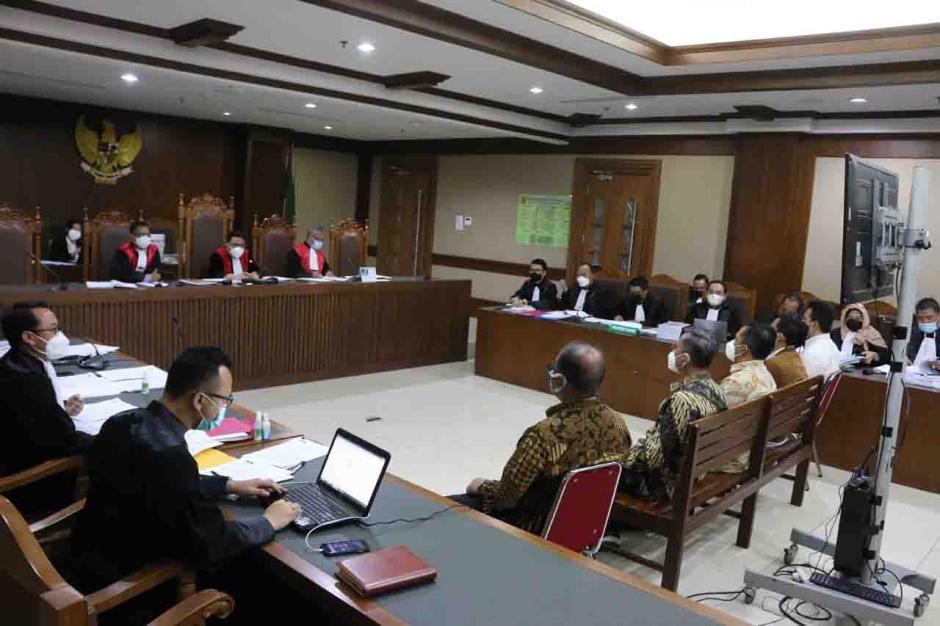 Sekjen dan Pejabat Kemensos Bersaksi di Sidang Suap Bansos Covid-19-4