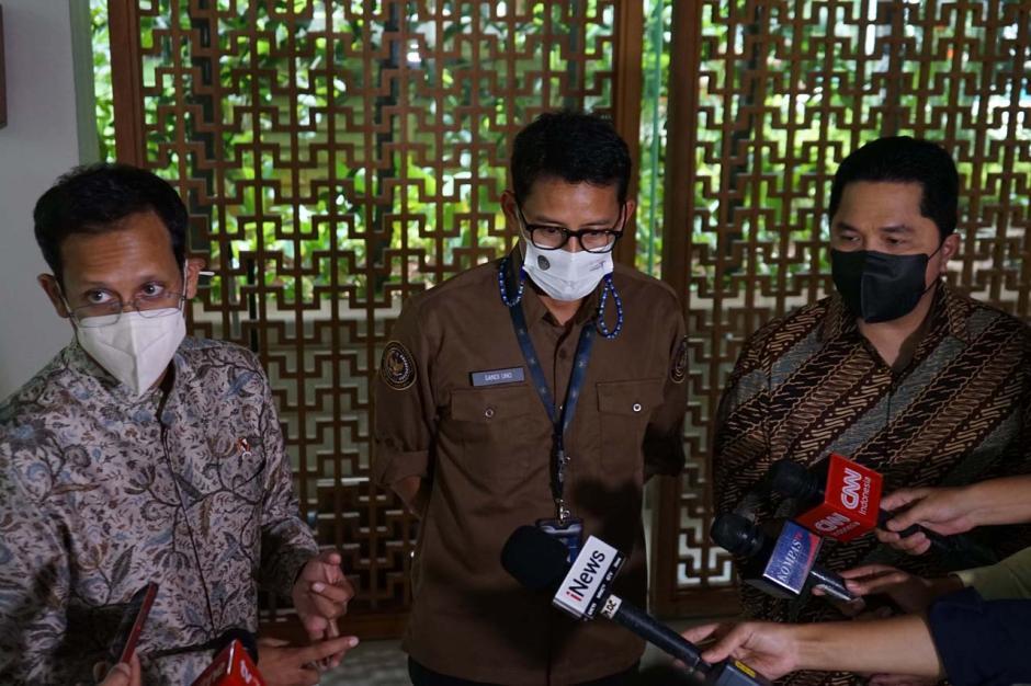 Ketemuan di Jakarta, Tiga Menteri Muda ini Bahas Potensi Pariwisata dan Kualitas Pendidikan-1