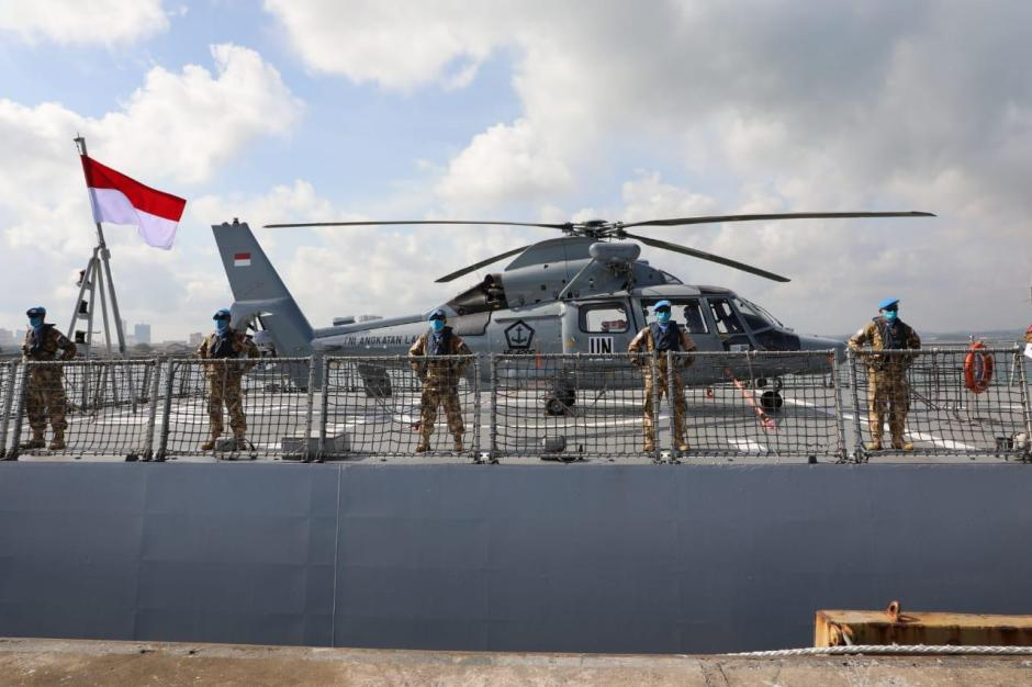 Panglima TNI Lepas Satgas Maritim TNI Konga XXVIII-M Bertugas ke Lebanon-3