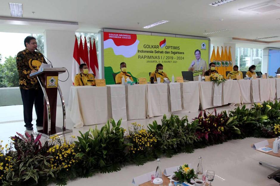Airlangga Hartarto Tutup Rapimnas I Partai Golkar-0