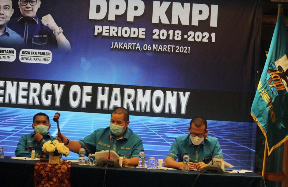 Rapat Pleno Putuskan Mustahuddin Jabat Plt Ketua Umum DPP KNPI-2