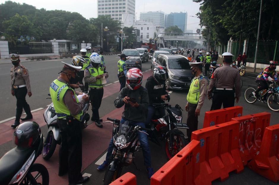 Puluhan Motor Knalpot Bising Terjaring Razia di Kawasan Istana Negara-0