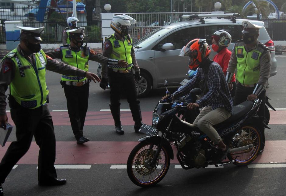 Puluhan Motor Knalpot Bising Terjaring Razia di Kawasan Istana Negara-5