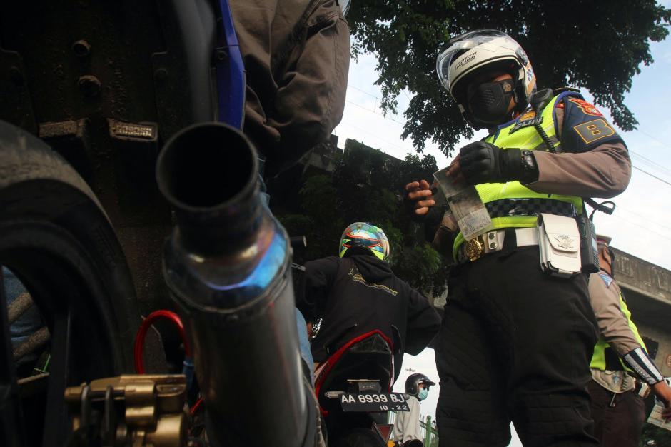 Puluhan Motor Knalpot Bising Terjaring Razia di Kawasan Istana Negara-3