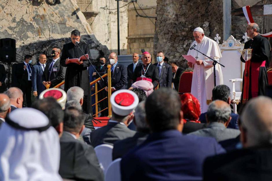 Paus Fransiskus Doakan Korban Perang Irak di Kota Tua Mosul-1
