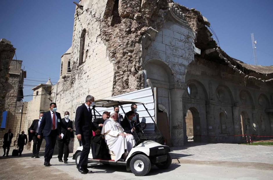 Paus Fransiskus Doakan Korban Perang Irak di Kota Tua Mosul-0