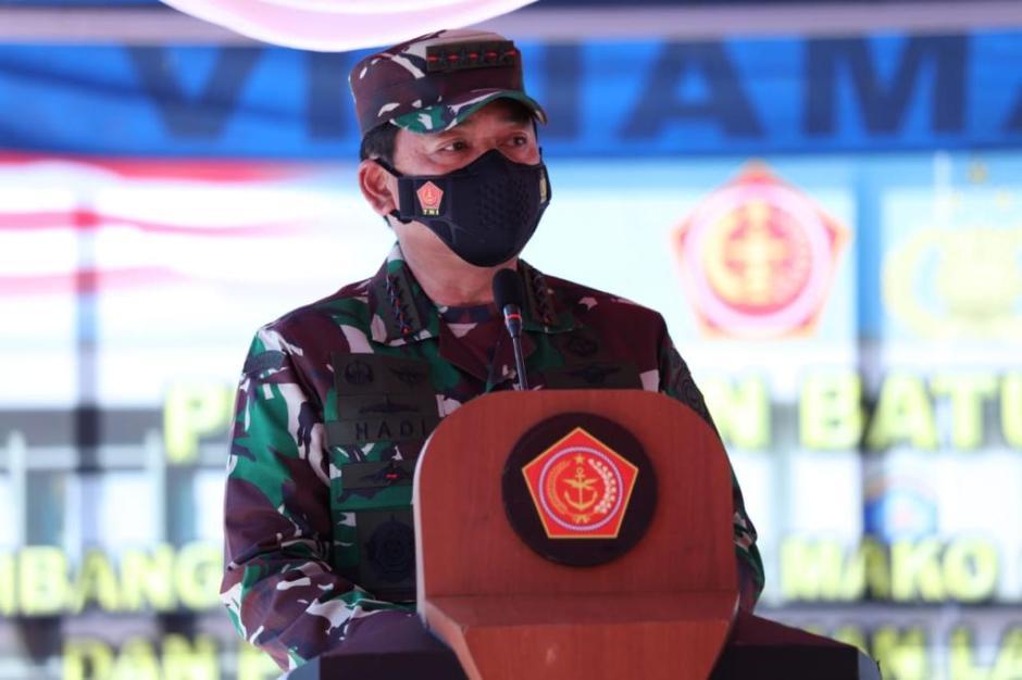 Panglima TNI Letakan Batu Pertama Pembangunan Mako Guspurla Koarmada I-0