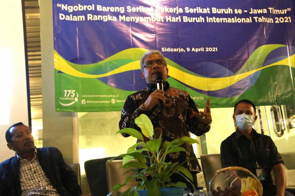 Sambut May Day, BPJamsostek Kopdar Bersama Serikat Pekerja Jawa Timur-4