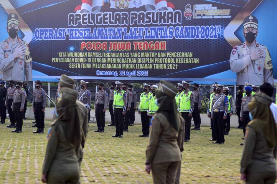 Polda Jateng Gelar Apel Operasi Keselamatan Candi 2021-3