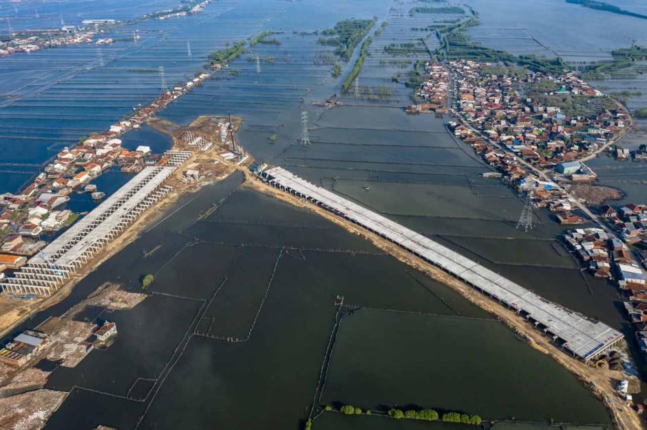 Progres Pembangunan Jalan Tol Semarang-Demak Capai 40 Persen-0