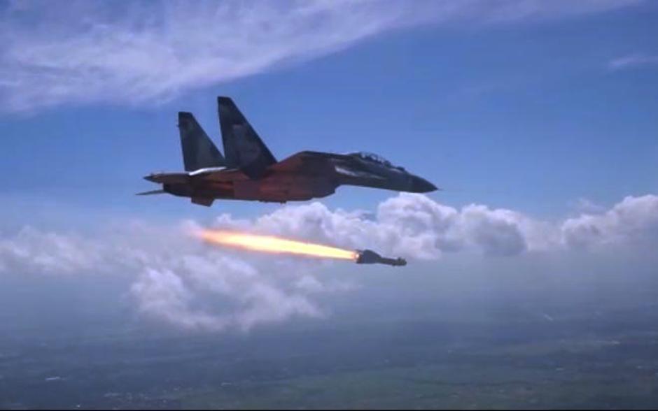 Uji Rudal, Sukhoi Skadron Udara 11 Tembakkan Peluru Kendali KH-29TE-3