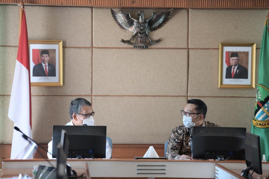 Gubernur Jabar dan Menteri ESDM Gelar Pertemuan di Gedung Sate-0
